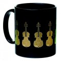 Mug Violin Black And Gold