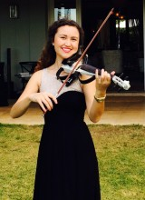 Cassandra Hansen from the Hansen Trio plays on the Phoenix Performer Electric Violin