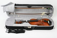 The violin has lots of room, so it also suits violins that are a little bigger than average. Average sized violins move a little, but that does not matter. Such a small movement is totally fine.
