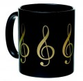 Mug G Clef Black And Gold