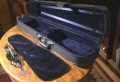 The case offers sufficient room for most shoulder rests along the neck and scroll of the violin