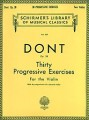Dont, 30 Progressive Exercises for Violin Op.38 (Schirmer)