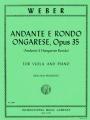 Weber Andante E Rondo Ongarese, Opus 35 for Viola (IMC)