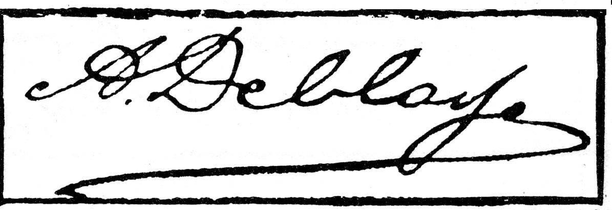 Albert Deblaye Signature